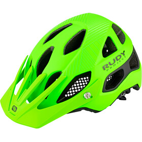 Rudy Project Protera Cykelhjelm, lime fluo-black matte